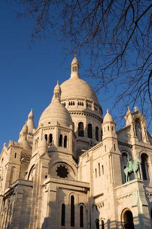 sacre: The Sacre Coeur Basilica in Montmartre - Paris, France