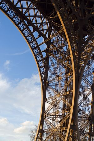 Structure detail of the Eiffel tower - Paris, France Stock Photo - 366489