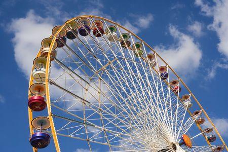 trone: Huge Ferris wheel at the Vincennes fair (Foire du Trone) - Paris, France Stock Photo