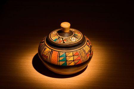 Peruvian handmade ceramic pot