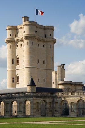 ufortyfikować: W lochu w zamku Vincennes (14 wieku) pod Paryżem, Francja Zdjęcie Seryjne