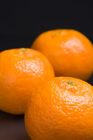 Close up view of three tangerines (shallow DOF) Stock Photo - 644567
