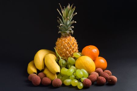 Various fresh fruits on a dark background Stock Photo - 743460