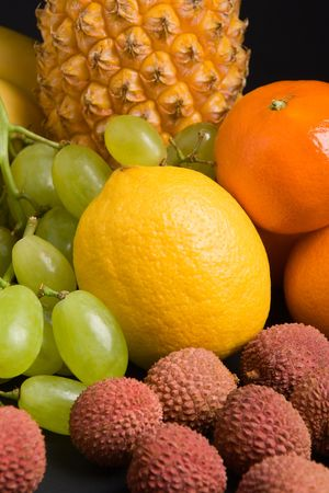 Close up view of various fresh fruits Stock Photo - 743461