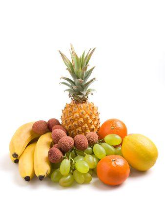 Vaus fresh fruits on a white background Stock Photo - 746769