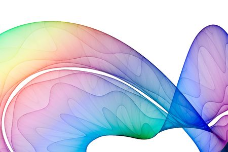 bliss: Colorful 3D rendered fractal design (abstract background)