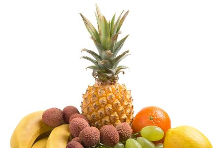 Various fresh fruits on a white background Stock Photo - 755757