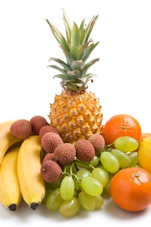 Various fresh fruits on a white background Stock Photo - 765048