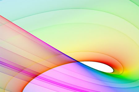 Colorful 3D rendered fractal design (abstract background)