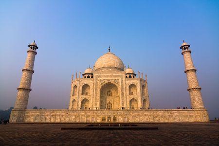 uttar: The Taj Mahal mausoleum - Agra, Uttar Pradesh, India