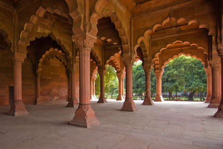 pillars: Arches in the Red Fort - Delhi, India
