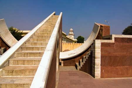 subcontinent: Astronomical instrument at Jantar Mantar observatory - Jaipur, Rajasthan, India