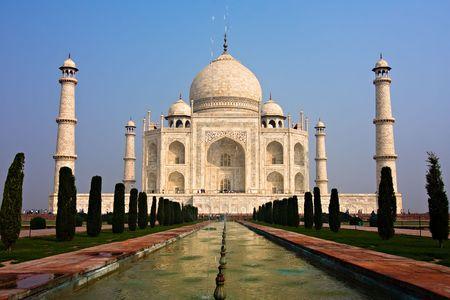The Taj Mahal mausoleum - Agra, Uttar Pradesh, India
