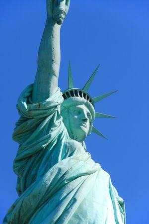 liberty island: Primo piano vista di Lady Liberty - Liberty Island, New York, Stati Uniti d'America