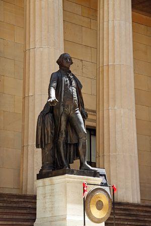 federal hall: Statue of George Washington - Federal Hall National Memorial, New York City, USA Stock Photo