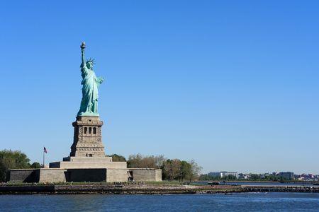 Statue of Liberty on Liberty Island - New York City, USA Stock Photo
