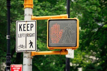 Dont walk pedestrian traffic light - New York City, USA photo