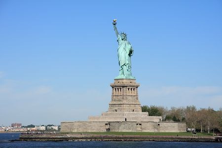 liberty island: Statua della Libert� a Liberty Island - New York, Stati Uniti d'America