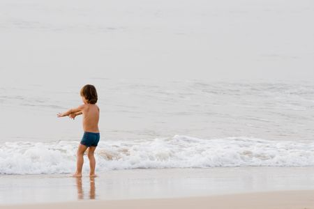 little boy on the beach Stock Photo - 711438