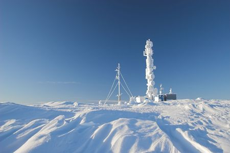 polar station: cellular phone station on the hill