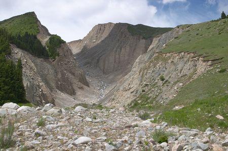mud slide: Landslide, Kyrgyzstan