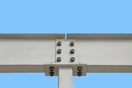 Steel I-Beam Stock Photo