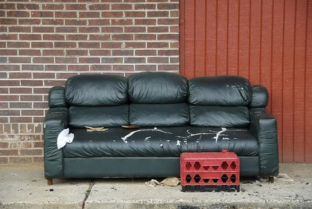 impoverished: Urban Living Room Stock Photo