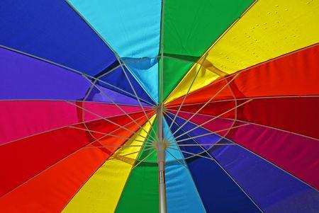 Multi-Colored Umbrella photo
