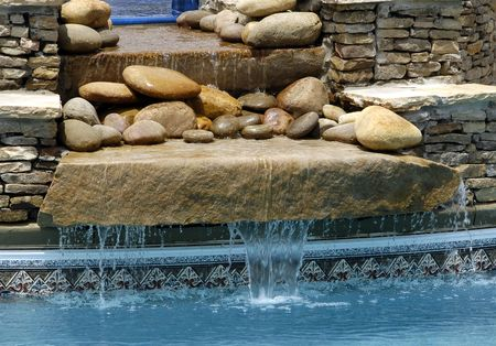 SPA Swimming Pool Water Feature Stock Photo - 913146