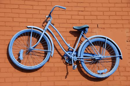Blue Bicycle Abstract photo