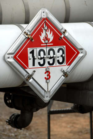 Flammable Placard Stock Photo