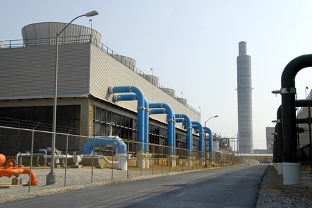 contaminacion aire: Power Plant lavadores  Foto de archivo