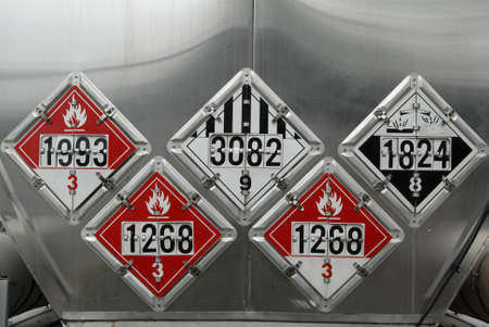 hazmat: Transportation Placards Stock Photo