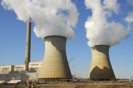 electric current: Power Plant Stock Photo