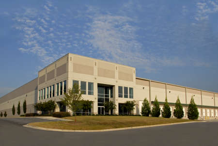 office building exterior: Distribution Center Stock Photo