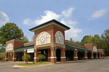 shopping center: New Commercial Property                              Stock Photo