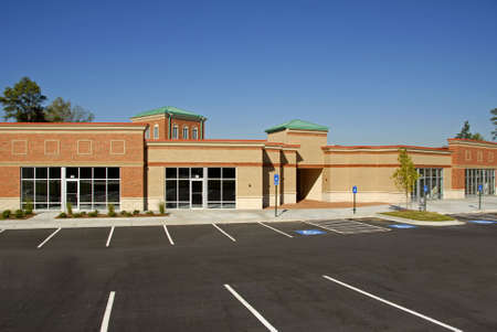 property development: New Commercial Building for Lease                                Stock Photo