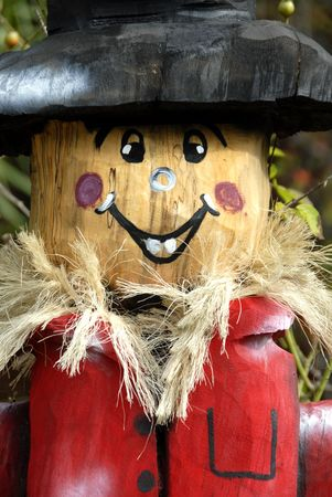hand carved: A Hand Carved Wooden Scarecrow