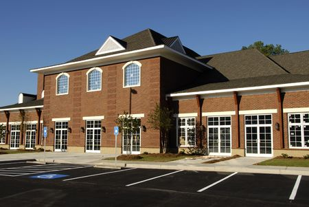 Commercial building with retail, medical and office space  photo