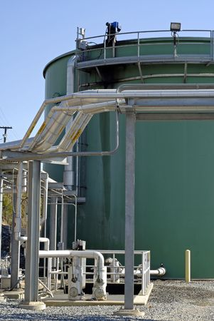treatment: Industrial Waste and Storm Water Treatment Plant                                   Stock Photo