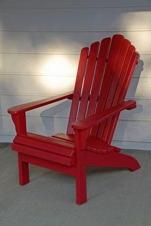 adirondack: Red Adirondack Chair
