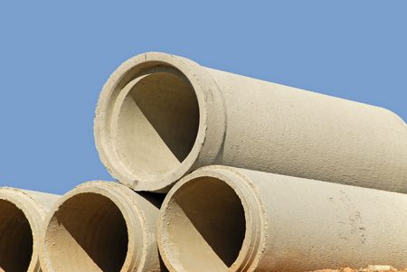 culvert: Stack of Concrete Drainage Pipe