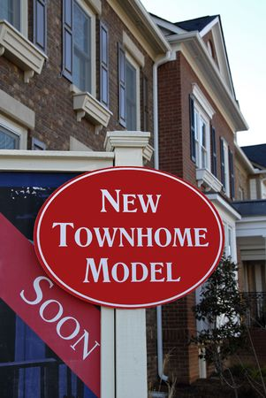 townhome: Realty Sign advertising New Townhome Model