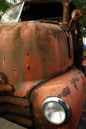 Abandoned Old Rusty Truck                                  photo