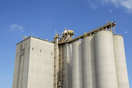 A Large New Grain Elevator                                     photo