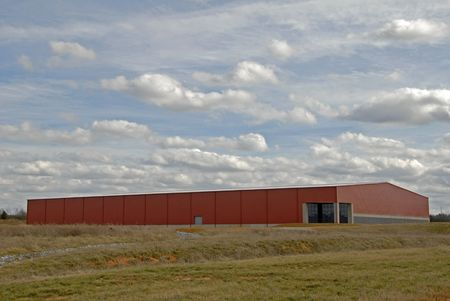 warehouse building: Large New Commercial Building in an Industrial Park