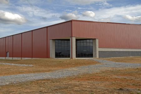 Large New Commercial Building in an Industrial Park Stock Photo - 2492555