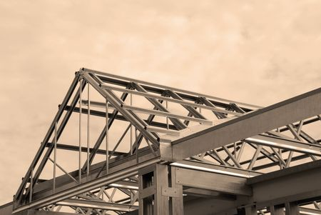steel: Steel Framing of a Commercial Building Stock Photo