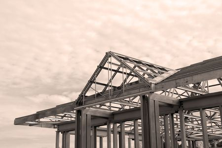 Steel Framing of a Commercial Building photo