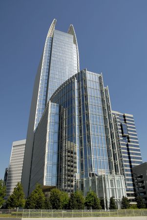 Highrise Office Building in Midtown Atlanta Stock Photo